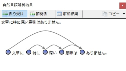 Tomarigiの使い方:係り受け可視化1