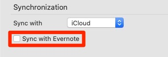 Evernoteと同期可能