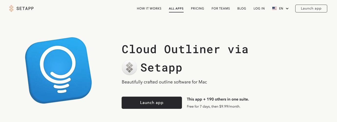 Cloud Outliner(Setapp)