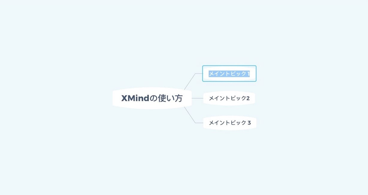 XMind:メイントピック