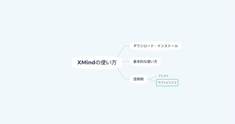 XMind:同じ階層に新たなトピックを追加