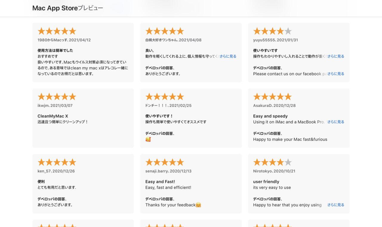 CleanMyMac:評判・口コミ