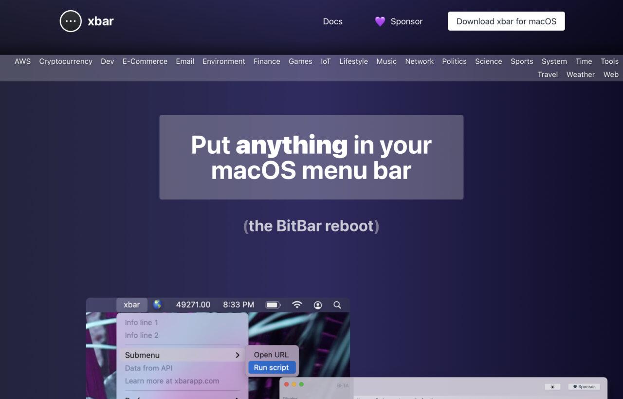 xbar(旧:BitBar)